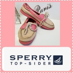 Sperry two-tone Pink docksiders size 6 1/2 M